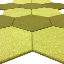 acoustic tiles hexagon shapes