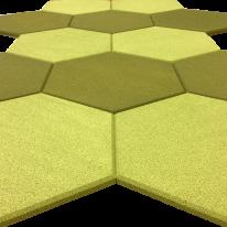acoustic tiles hexagon shapes