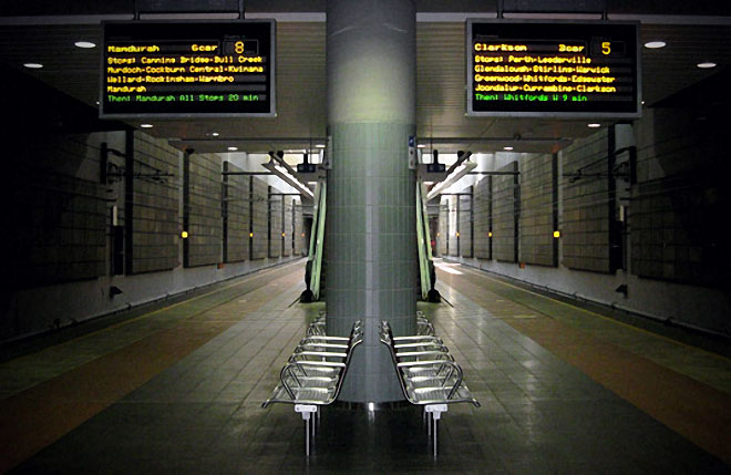 Fireproof acoustic panels in train station