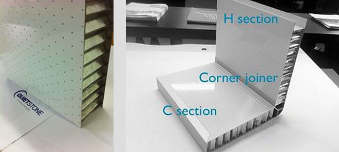 Honeycomb Acoustic Panel Light Weight Noise Cancelling