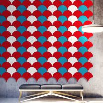 Acoustic tiles Tear drop shape