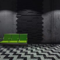 Blocks acoustic tiles in black