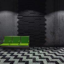 Blocks acoustic tiles in black