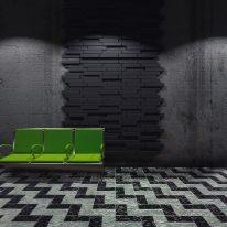 Blocks acoustic tiles - black