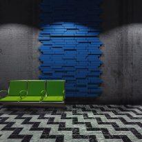 Blocks acoustic tiles - blue