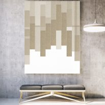 acoustic tiles on wall