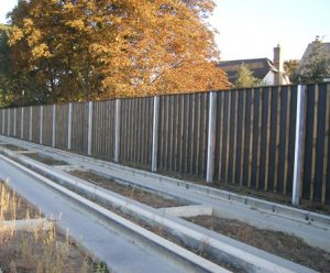 timber noise barrier