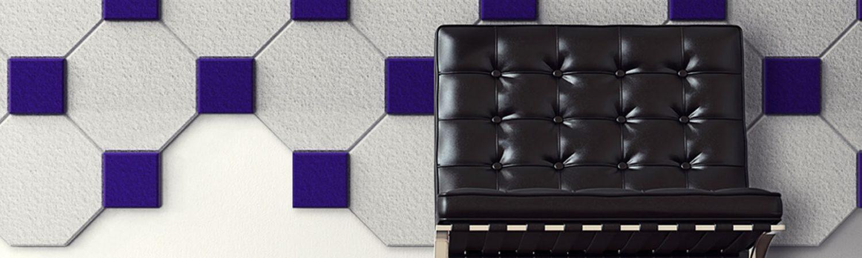acoustic tiles hexagon shape
