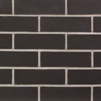 Brick slip Tile : Black-Engineered