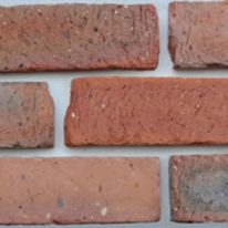 Brick slip Panel - red finish