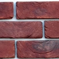Brick slip Panel - red - brown finish