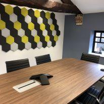 Acoustic tiles in meeting room