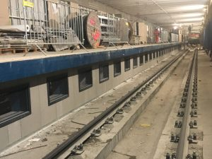 Sound absorbing panels on railway lines