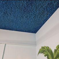 Blue Acoustic plaster spray